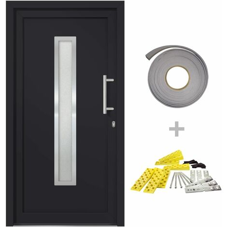 Front Entrance Door Anthracite 98x208 cm