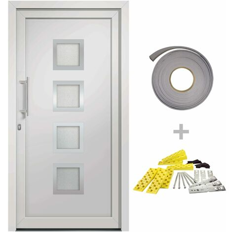 Front Entrance Door White 108x208 cm