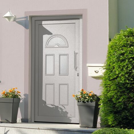 Front Entrance Door White 88x190 cm
