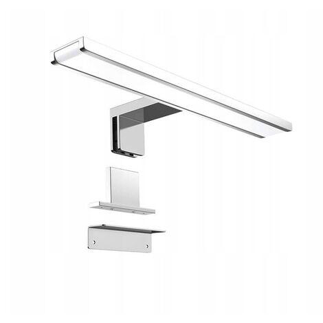 Front LED Mirror Light Toilet Wardrobe WC Light European Standard (12W 600mm, White Light)