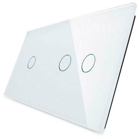Frontal 2x cristal blanco, 3 botones