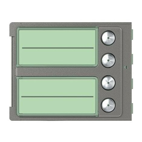 Frontal bticino module 4 boutons sur colonne unique 352045.