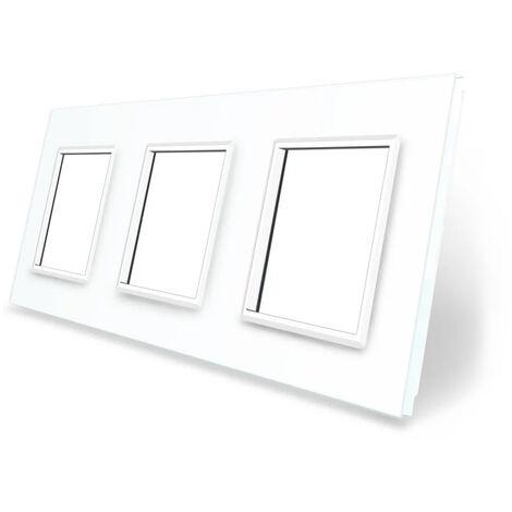 Frontal cristal blanco 3x huecos