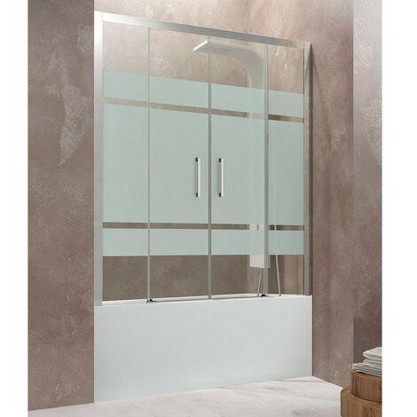 Frontal de bañera AKTUAL SPACIO dos fijos + dos puertas Cristal: Frost