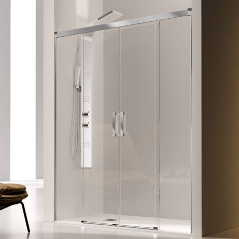 Frontal de ducha 2 Fijos + 2 Puertas Correderas GLASÉ