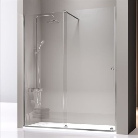 Frontal de ducha fijo + Puerta Corredera con tirante VOLARÉ