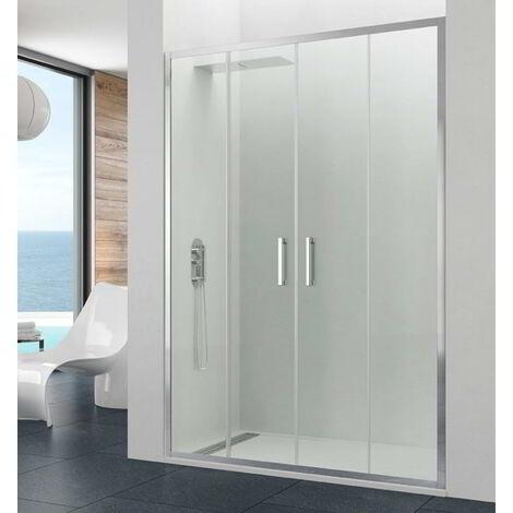 Frontal de ducha PRESTIGE 2fijos + 2correderas Cristal: Transparente