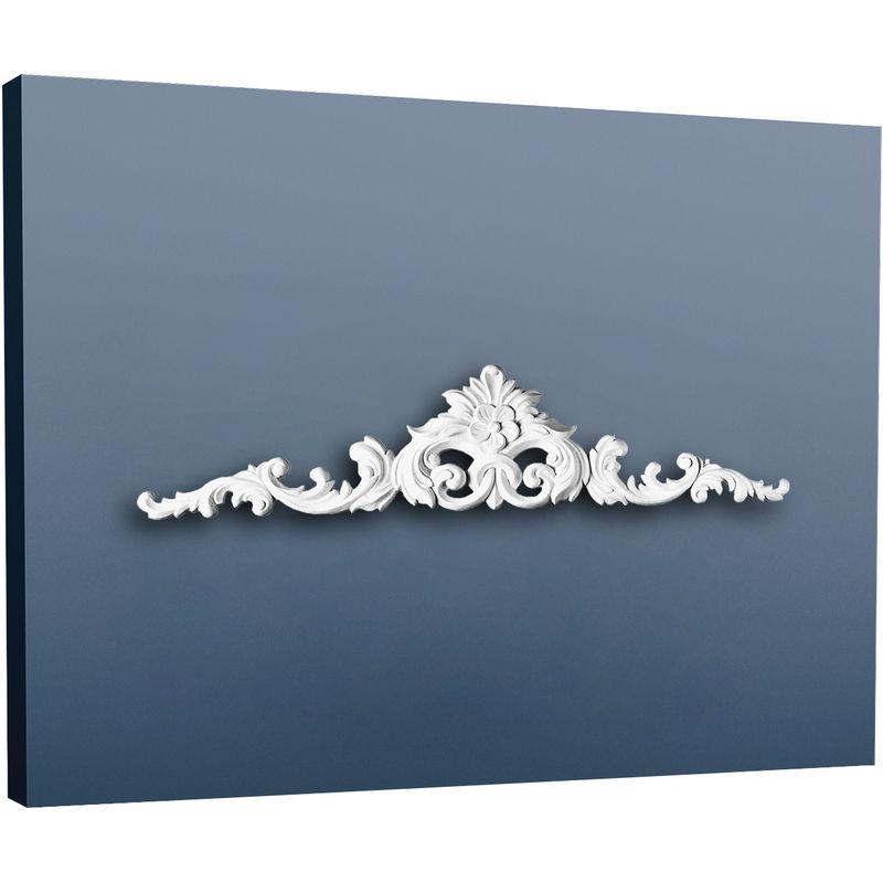 Frontale Perfil de estuco Orac Decor D170 LUXXUS Elemento decorativo de estilo para puerta blanco 105 cm
