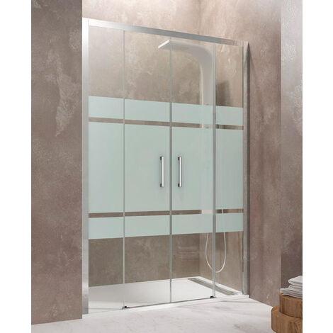 Frontales de ducha AKTUAL 2 fijos + 2 correderas Cristal: Frost