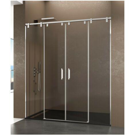 Frontales de ducha FUTURA 2 fijos y 2 correderas Decorado: Transparente