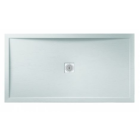 Frontline Aquaglass 1400 X 700mm Rectangular Shower Tray Slate Effect