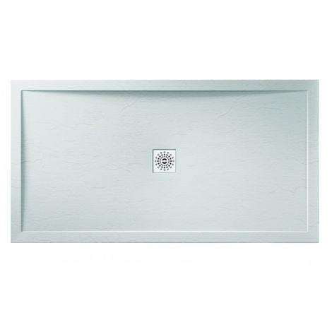 Frontline Aquaglass 1400 X 900mm Rectangular Shower Tray Slate Effect