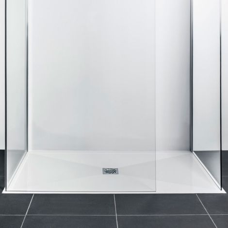 Frontline Aquaglass 1600 X 760mm Slimline Rectangular Shower Tray