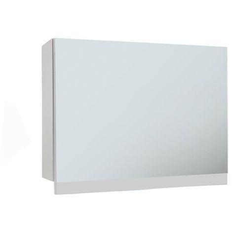Frontline Aquatrend 750mm GasLift Mirrored Cabinet White Gloss