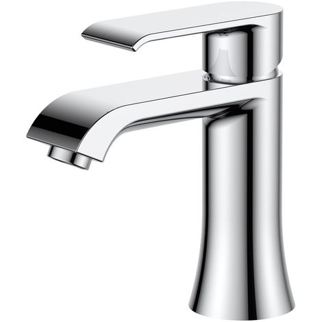 Frontline Basque Deck Mounted Basin Mixer Tap with Waste
