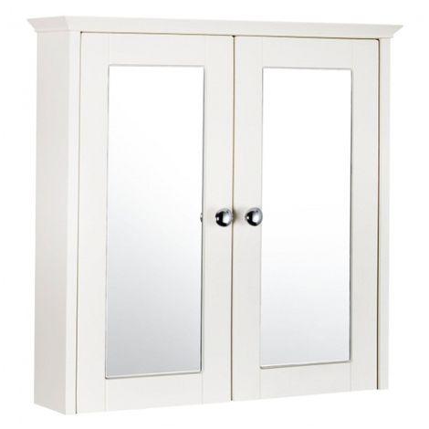 Frontline Bathrooms Aquamode 600mm Crema Mirror Cabinet