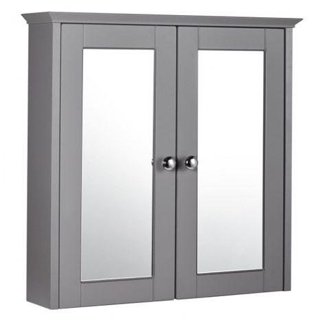Frontline Bathrooms Aquamode 600mm Dust Grey Mirror Cabinet