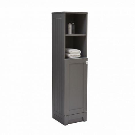 Frontline Bathrooms Aquamode Dust Grey Tall Cupboard Unit