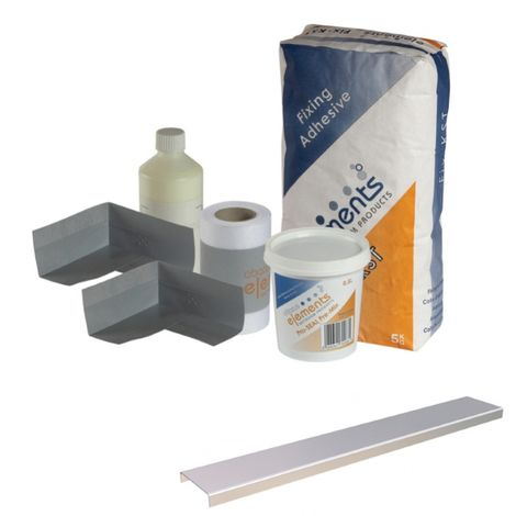 Frontline Bathrooms Shower Tray Install Pack Linear Waste