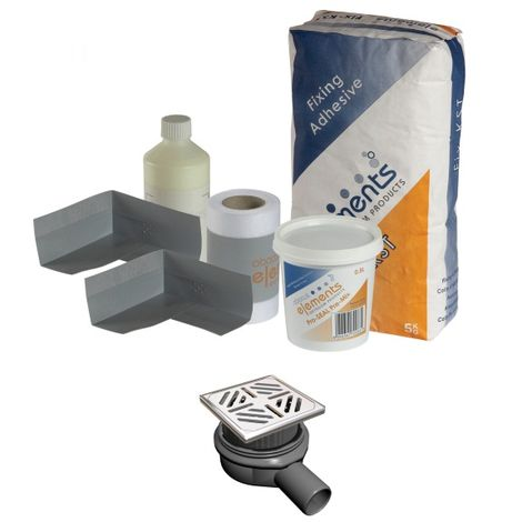 Frontline Bathrooms Shower Tray Install Pack Square Waste