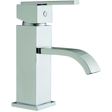 Frontline Blok Deck Mounted Basin Mixer Tap with Waste