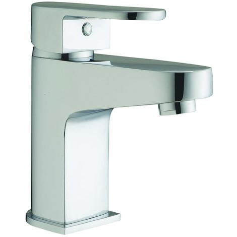 Frontline Caprice Square Deck Mounted Basin Mixer Tap with Waste
