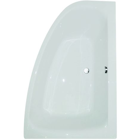 Frontline Cloud Left-Hand Offset acrylic 1500mm x 1000mm Corner Bath