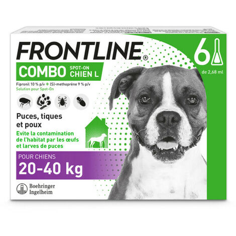 Frontline Combo Pipettes Spot-On Chien