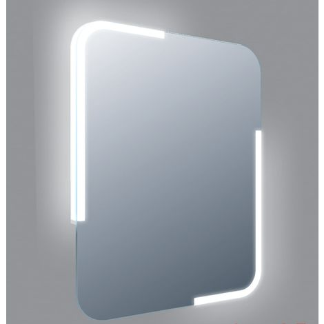 Frontline Curve 600mm LED Mirror with Touch Sensor and Demister