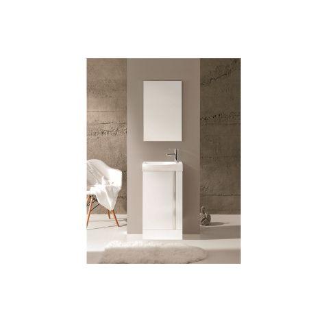 Frontline Elegance Gloss White 450mm Floorstanding Cloakroom Unit Pack