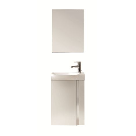 Frontline Elegance Gloss White 450mm Wall Mounted Cloakroom Unit Pack