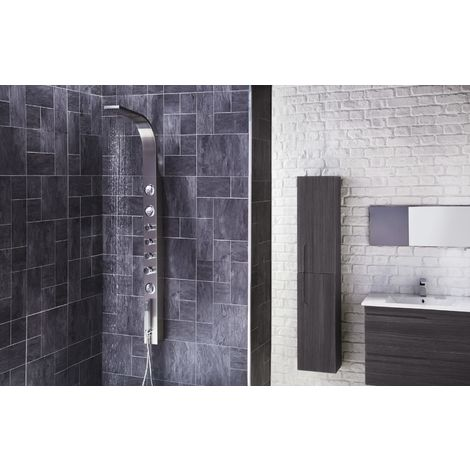 Frontline Emme Exposed Thermostatic Shower Tower with Built-In Massage Jets