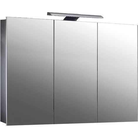 Frontline Howden Triple 1000mm Mirrored LED Cabinet