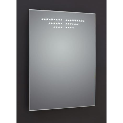 Frontline Infinity Tinted 600mm BevelEdged LED Mirror with Sensor Demister and Shaving Socket