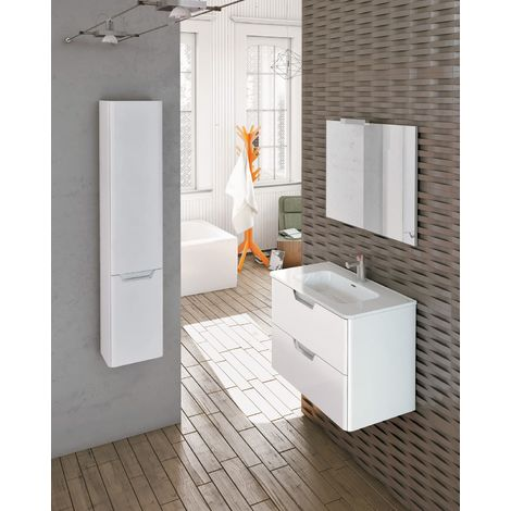 Frontline Life 600mm 2 Drawer Wall Hung Vanity Unit Gloss White