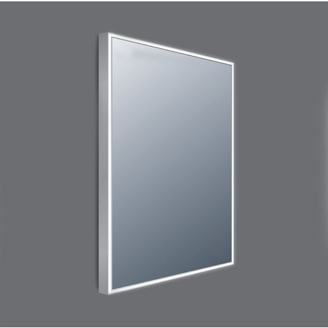 Frontline Line AluminiumFramed 600mm LED Mirror with Touch Sensor and Demister