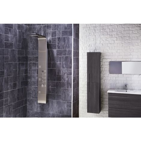 Frontline Losan Exposed Square Thermostatic Shower Tower with Built-In Massage Jets