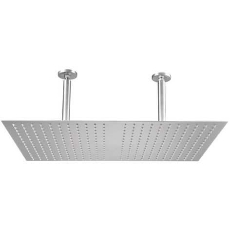 Frontline Matrix Designer Square Shower Head 600 x 500mm ceiling Mounted with Arm