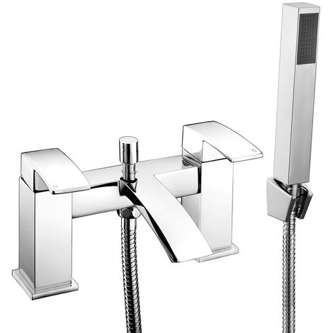 Frontline Pure Square Waterfall Bath Shower Mixer Tap