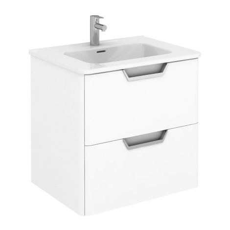 Frontline Royo Life 600mm Gloss White Wall Hung Vanity Unit
