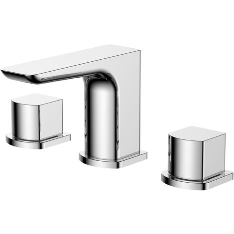 Frontline Sabre 3 Tap Hole Basin Mixer with Waste