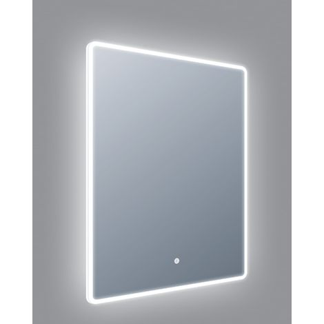 Frontline Sleek LED 600mm Mirror with Touch Sensor and Demister