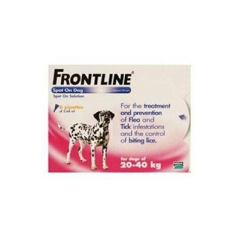Frontline Spot On Large Dog 20-40kg (6Pipettes) x 1  (20051)