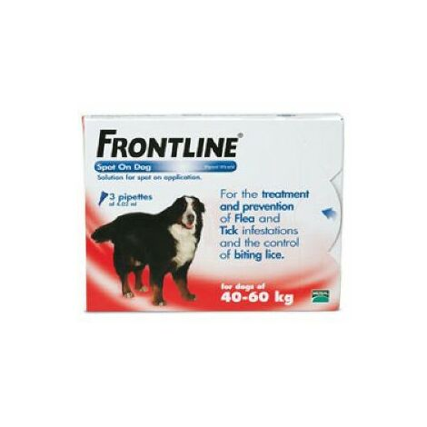 Frontline Spot On XLarge Dog 40-60kg (3Pipettes) x 1 (20048)