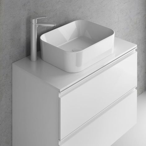 Frontline Vida 600mm 2 Drawer Wall Hung Vanity Unit Gloss White