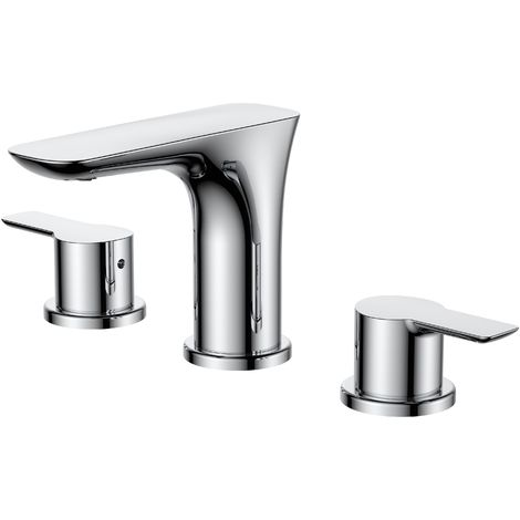 Frontline Vido 3 Tap Hole Basin Mixer with Waste