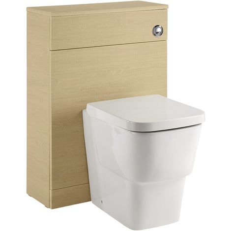 Frontline Vitale Back To Wall Toilet Unit Light Oak