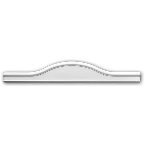 Fronton 154003 Profhome Encadrement de porte design intemporel classique blanc