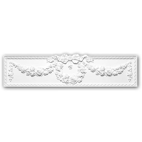 Fronton 163003 Profhome Encadrement de porte style Néo-Empire blanc