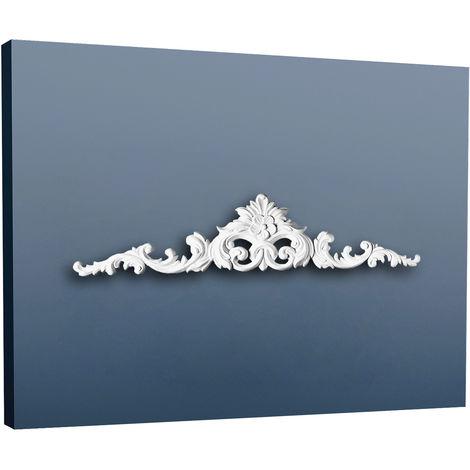 Fronton Encadrement de porte Elément décoratif Orac Decor D170 LUXXUS élégant de porte Profil de stuc blanc | 105 cm